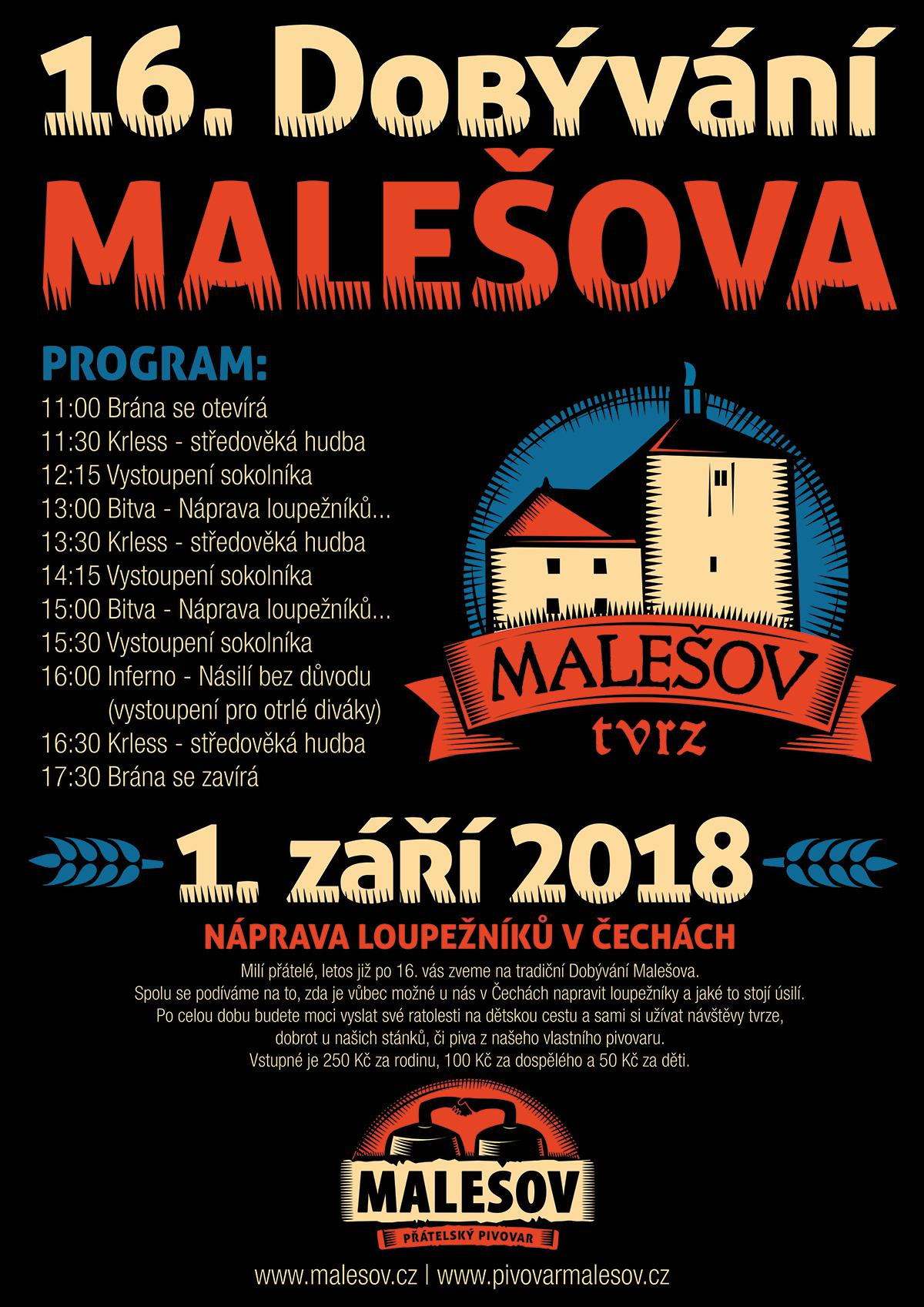 Plakát 16. Dobývání Malešova