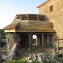 Nová došková střecha nad věžičkou